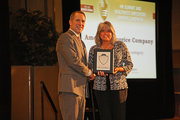 Sharon Clason of American Licorice Co., winner in the 100-499 employee category.