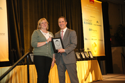 Vernier Software and Technology's Kathy Higashihara in the 5-99 employee category.