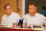 Steve Chartier, left, former CEO of Legg Co. in Halstead, and Bescorp's Mike Wall.