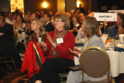 The crowd applauds during the awards luncheon.