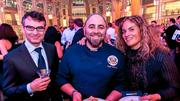 The fifth annual Embassy Chef Challenge was held March 14 at the Ronald Reagan Building in D.C. Chefs from around the world dished up hors d'oeuvres showcasing their country's cuisine. From left, a guest, chef Duff Goldman and Marta Perez Garcia.
