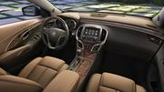 2014 Buick LaCrosse Ultra Luxury Interior Package with semi-aniline leather seating, Tamo Ash wood trim and synthetic suede headliner and pillars coverings.