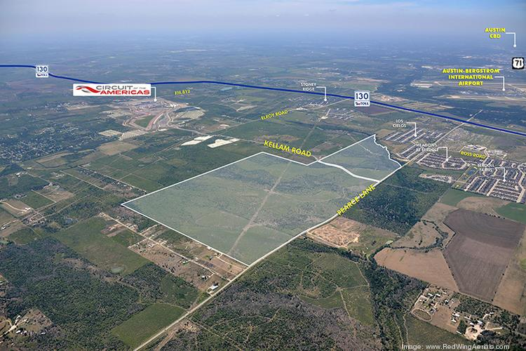 Nearly 651 acres is for sale between the Austin-Bergstrom International Airport and the Circuit of the Americas track.
