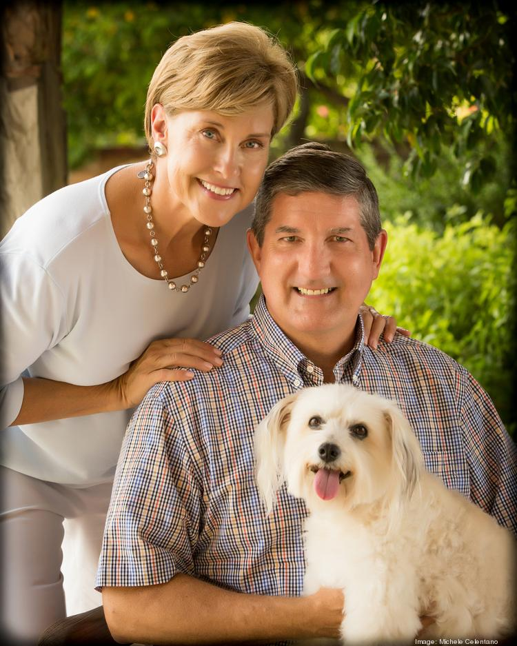 The new PetSmart Charities pet adoption center in Chicago is being named after Philip L. Francis, seen here with wife Nita and adopted pet Bit O' Honey.
