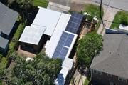 A fully solar-powered home at 409 West 8th St. in the Heights  The residence was designed by Palmer Brook Schooley AIA Architecture and Design, with solar installation by Texas Solar Outfitters.
