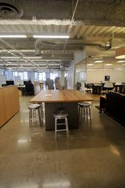 The office includes a number of collaborative spaces.