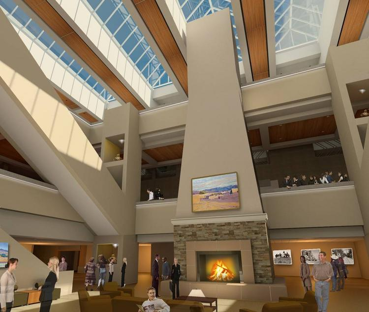 The $12.95 million second phase of the remodel of the Albuquerque Convention Center kicked off Monday. It will include new LED lighting and a gas fireplace in the atrium area. Third Street between Tijeras and Marquette will also be reconstructed.