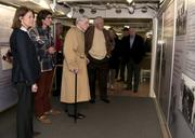 Former U.S. Sen. John Warner, R-Va., and guests tour the Hampton Roads Naval Museum and the Battleship Wisconsin. Warner was in Hampton Roads for the keel-laying ceremony for the Virginia-class attack submarine pre-commissioning unit John Warner (SSN 785).