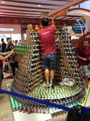 """Kilauea Volcano: Hawaiian Wonder"" by WATG took the award for ""Best Use of Labels"" at AIA Honolulu's Canstruction fundraiser at Pearlridge Center on Oahu."