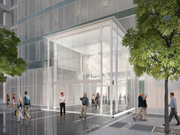 Exelon Corp.'s Baltimore headquarters is slated to include a cube resembling Apple Inc.'s famous Fifth Avenue store in New York.