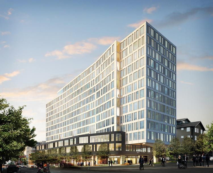 Skanska USA plans to start construction Wednesday on 400 Fairview, an office and retail project in Seattle. Clothing company Tommy Bahama is leasing about a third of the office space.