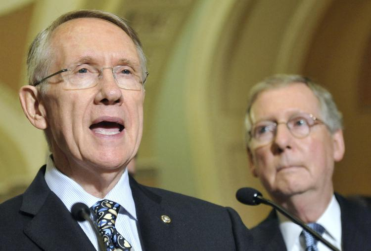 Senate Majority Leader Harry Reid, left, and Senate Minority Leader Mitch McConnell negotiated the deal to reopen the government and raise the nation's debt ceiling.