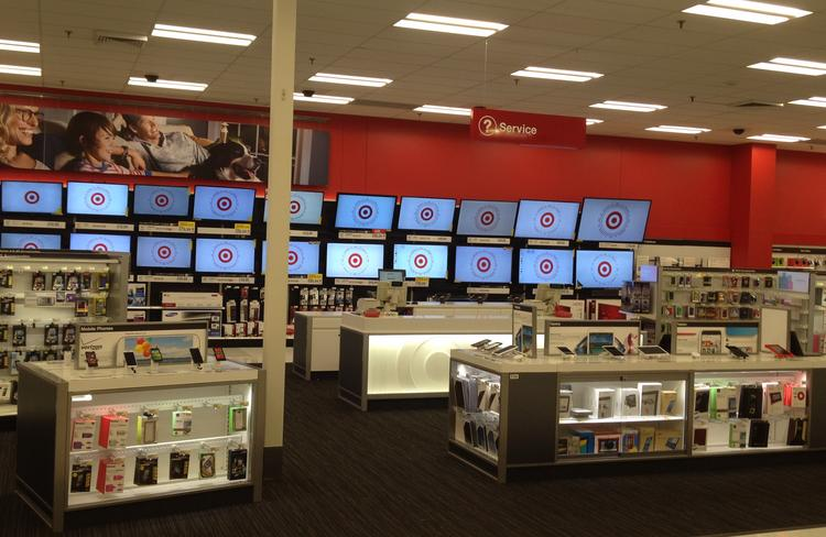 The electronics department at Target's Minnetonka store was recently remodeled as part of a test layout that makes smartphones and tablets the focal point of the section.