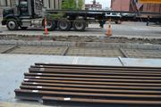 A new shipment of rails will arrive every two weeks and be stored on the construction site, with 40 total deliveries expected.