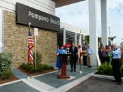 FDOT photo from opening of the Pompano Beach plaza in 2009.