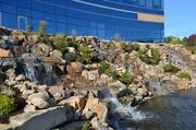 Ken Block of Block Development Co. said touches like these waterfalls were included to make the new Teva headquarters stand out as a world-class facility.