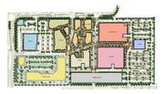 This site plan shows the seven sections of the Globe that occupy the site's 31 acres.