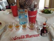 Each table setting featured four different samples of Grand Marnier, along with tools to make the cocktail and a glass to enjoy it in.