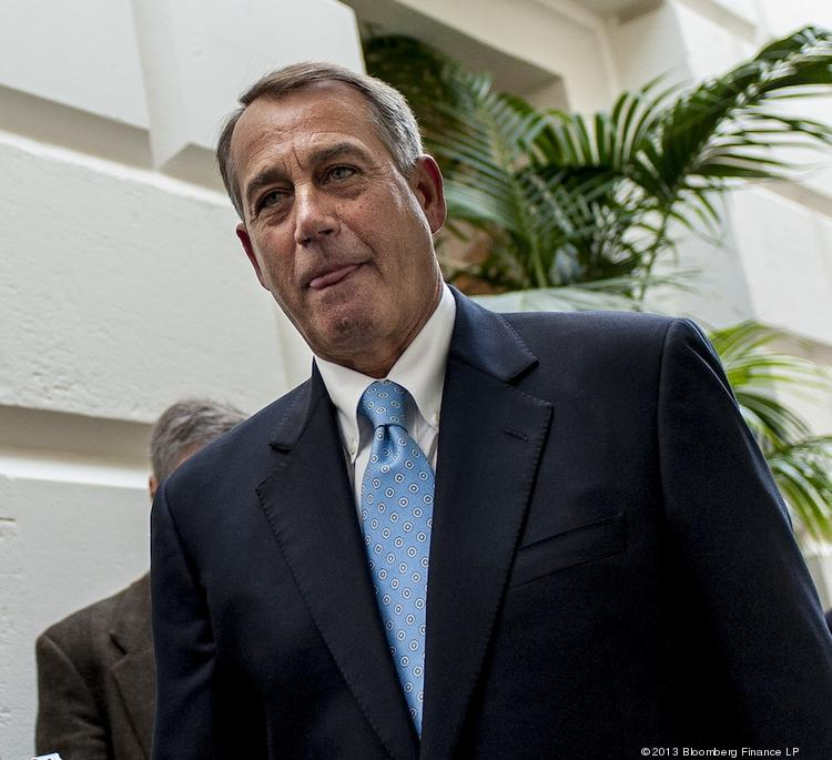 House Speaker John Boehner is having problems getting his fellow Republicans to support plans to end the government shutdown and raise the nation's debt ceiling.