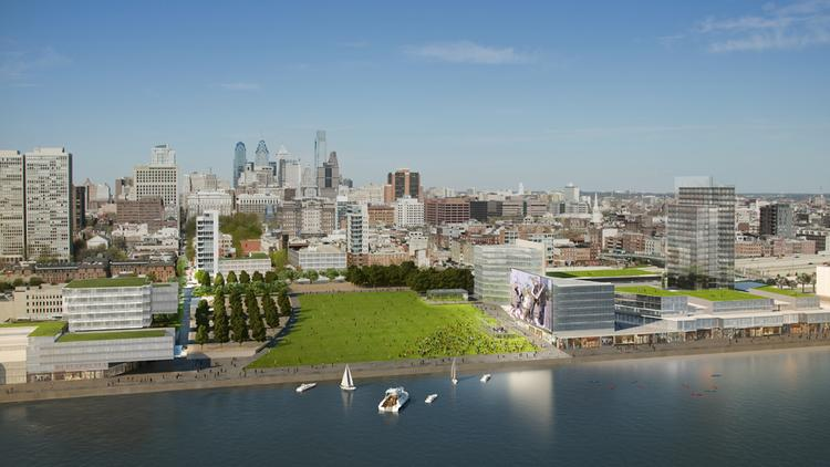 The pulled back view of the master plan for the Philadelphia waterfront.