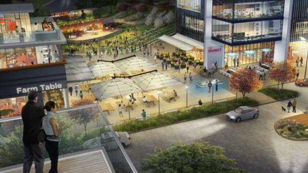 A rendering of the OneCity project.