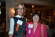 Mary Abbajay, left, of Careerstone Group, with Karen Riordan of SmithGifford.