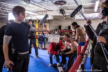 Crews work on the set of Title Fight, a UNC-School of the Arts third-year student film that premiered at the school in May 2013. Officials at the UNCSA School of Filmmaking are concerned that opportunities for students will be reduced if North Carolina's film industry incentive program is allowed to expire in 2014.