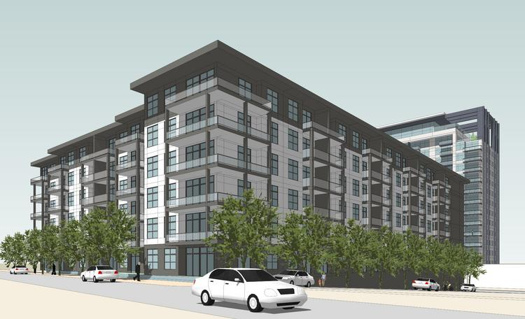 The apartment complex will have about 300 apartment units spread over 15 floors.