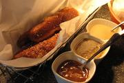 Fried Pretzel Sticks, with your choice of cinnamon caramel, beer cheese or sweet mustard sauce, are available in the Machine Room.