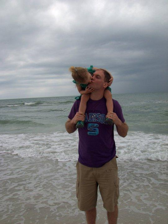 Larry Wells loved spending time with his daughter Maddie, including taking regular trips to the beach.