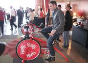 Reds fans can mix their own drinks with this bicycle.