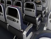 Seats throughout Main Cabin are designed to improve overall customer comfort.