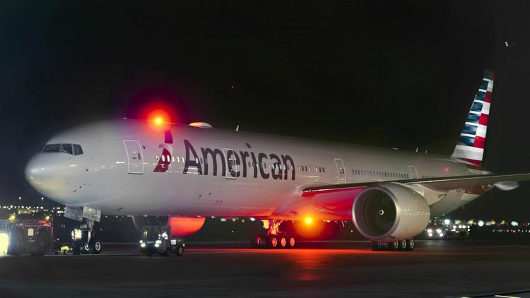 Freshly painted with American's new look, the aircraft features the modern new logo and livery.