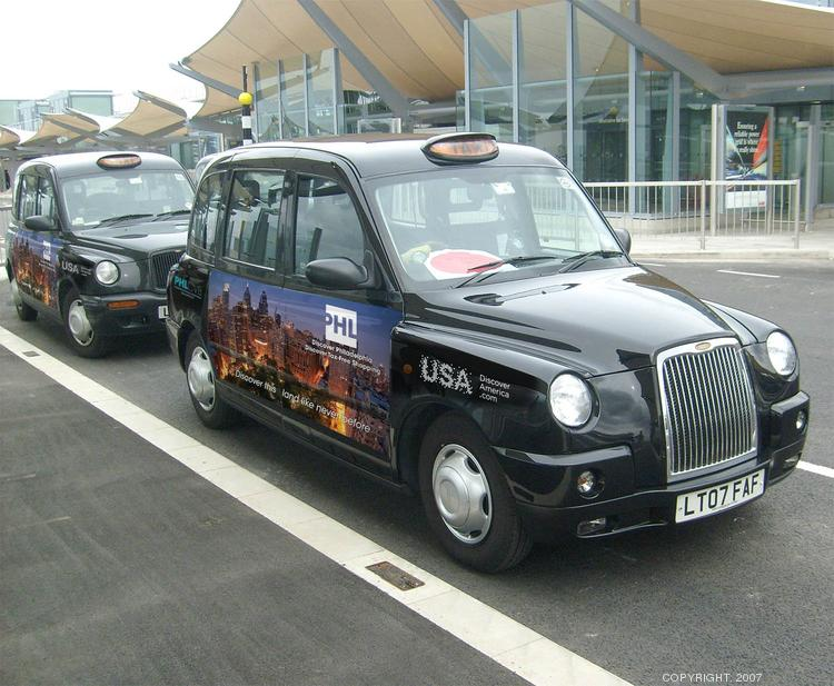 London cabs now feature advertising to promote Philadelphia as a destination for trade, conventions and leisure travel. The campaign was launched this week by Mayor Michael Nutter and the Philadelphia Convention & Visitors Bureau.