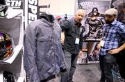 A new line of biker jackets from the Tucker Rocky company made its debut at the expo.