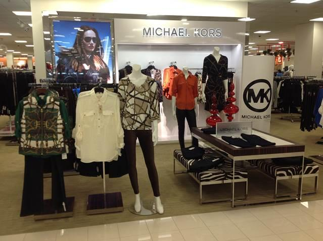 A Michael Kors shop within a Belk store. Kors' same-store sales rose 21 percent last quarter, and Wall Street likes that news.