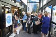 Belk offered gift cards to the first 300 shoppers through the door at its new Morganton store.