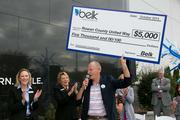 Belk donated $5,000 to the Rowan County United Way as part of its grand-opening celebration.