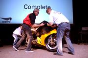 Erik Buell Racing unveils the 1190RX during a special event.