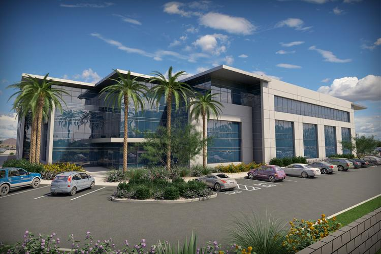 A rendering of a $60 million build-to-suit project called Ascend at Chandler Airport Center that Irgens is planning to build.