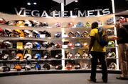 Vega Helmets made an impressive display with numerous designs and graphic styles.
