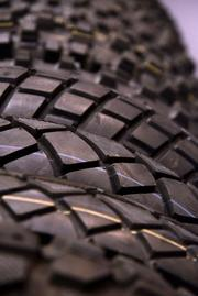 Traction action at the Vee Rubber Performance Tire Company display.