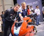 A less formal unveil of the 1190RX was done at the Erik Buell Racing area on the exhibitor floor.