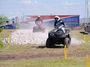 An off-road course made ATV riders happy. And pretty dusty.