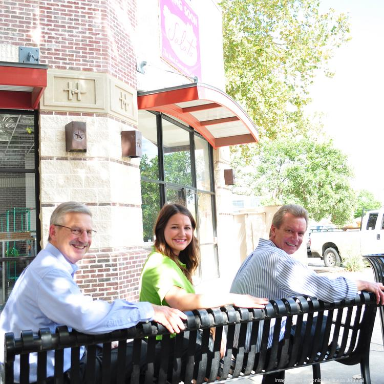 San Antonio Salata franchise owners Pat Hanlon and Tom McCarthy, along with Kasey Hanlon, have opened their first restaurant at the Huebner Oaks Shopping Center.