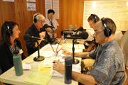 The Hawaii Public Radio team, from left, Buffy Cushman-Patz, HPR board member; Michael Titterton, president and general manager; Jack Laufer, HPR board member and News Director Bill Dorman during the first day of the HPR fall on-air pledge drive.