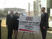 Tom O'Connor (left), DCP Midstream's former CEO and chairman, with his wife, Diane, and Wouter van Kempen, DCP's current president, CEO and chairman, at the celebration to open the $270 million O'Connor Plant to process natural gas. The plant was named in honor of O'Connor.