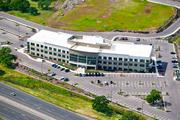 An aerial view of the former headquarters for Waste Connections, the future home of SAFE Credit Union.