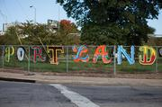 These letters can be seen at 22nd St. and Portland Ave.