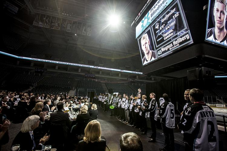 Several hundred Milwaukee-area business executives attended the event at the BMO Harris Bradley Center.